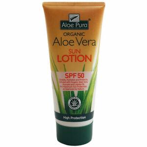 Organic Aloe Vera Sun Lotion SPF50 200ml