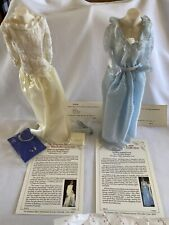 Princess Diana Royal Wardrobe Ice Blue Dotted Gown White Lace & Taffeta Gown
