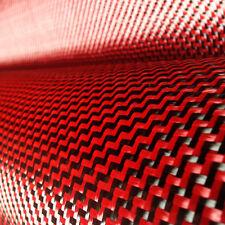 "Carbon Fiber / Red Kevlar Cloth Fabric W Weave 40"" 3k 5.9oz / 200gsm"