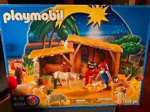 Brand New Playmobil Nativity Scene 58 Pcs Christmas Set #4884