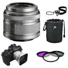 Olympus M.Zuiko 14-42mm f/3.5-5.6 II R Lens Kit Silver With Filters Hood Case ++
