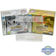 DS Game BOX PROTECTOR for Nintendo Pokemon Soul Silver Heart Gold 0.5mm PET CASE