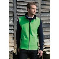 Gilet Softshell antipioggia vento Result R232M tg. XL windproof verde lime