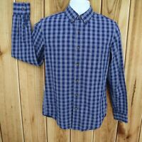 J. Crew Shirt Slim Fit Casual Button Down Mens S Blue Checks Cotton Long Sleeve