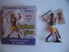 Vintage MIB MARX Warriors of the World #7 Roman Warrior SEPTIMUS PIUS, CARD, BOX