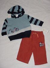 NWT Gymboree JUNIOR RACER Big Wheel Blue Striped Sweater Orange Pants Set 3-6 M