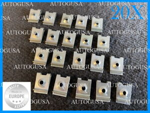 20X BMW UNDER ENGINE GEARBOX UNDERTRAY COVER CLIPS FASTENERS 07129925727 (1942)