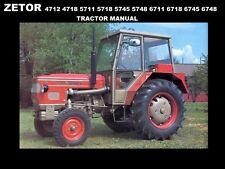Zetor 4712 4718 5711 5718 5745 5748 6711 Tractor Manual for Service & Repair