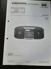 Original Service Manual  Grundig  RR 700 CD