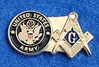 United States Army Masonic Lapel Pin -  Mason / Military