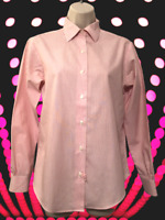 Brooks Brothers Blouse Size S or 2 Non-Iron Cotton Striped Button Down Shirt