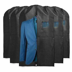 "5Pcs 39"" Suit Cover Bags Mens Garment Breathable Travel Zipped Dress Covers Bag"