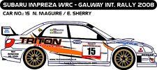 DECALS 1/43 SUBARU IMPREZA WRC - #15 - MAGUIRE - RALLYE GALWAY 2008 - D43176