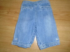 Girls blue denim cropped jeans, MOTHERCARE, 6-9 months