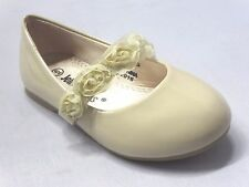 Girl Flats (Let) Kid Flower Girl Pageant Dress Shoes White Beige