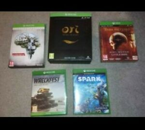 Xbox one Games + Gaming Merch (see photos)