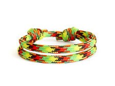 Paracord Reggae Rasta African Baseball Jewelry for Men Urban Bracelet Braided