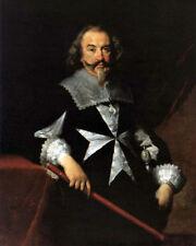 Maltese Knight ST John Order Of Malta Portrait Painting Smom Canvas Art Print