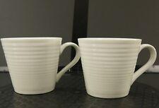 Royal Doulton Coffee Cups Mugs 'Gordon Ramsay Maze' White China Dinnerware Set 2