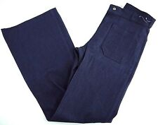 NOS VINTAGE SEAFARER bell bottom denim NAVY SAILOR jeans mens 28x34 UTILITY raw