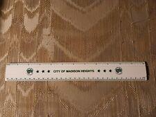 City Of Madison Heights 12 Ruler Michigan Mi Green White Plastic 30mm Progress