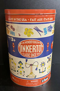K'NEX TINKERTOY - Classic Building Tin - 100 Parts - Collectible Tin - Ages 3+