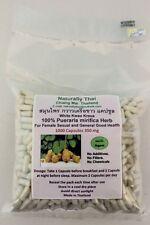 Organic Pueraria mirifica 350mg x1000 Capsules - Bio -  White Kwao Krua