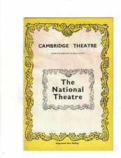 Hedda Gabler June 29 1970 Program National Theatre Ingmar Bergman
