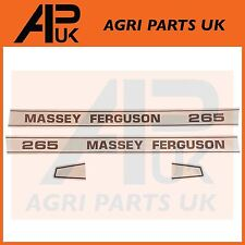 Massey Ferguson 265 Tracteur Modèle Numéro Decal Sticker Set Bonnet stickers