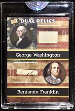 2020 THE BAR PIECES OF THE PAST GEORGE WASHINGTON / BENJAMIN FRANKLIN DUAL RELIC