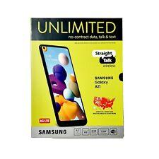 "Straight Talk SAMSUNG Galaxy A21 6.5"" 16MP Quad 32GB Black Prepaid Smartphone"