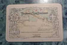 TOURING CLUB ITALIANO TESSERA DI RICONOSCIMENTO + BOLLINO 1917 - PERFETTA