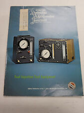 Aviation Mechanics Journal Magazine Fuel Injection Test March 1976 FAA 110216R