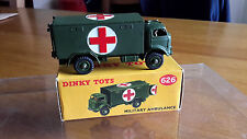 VINTAGE DINKY #626 MILITARY AMBULANCE  VN  MIB