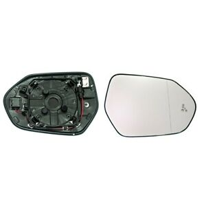 TOYOTA PRIUS 2016->2019 WING MIRROR GLASS, HEATED WITH BASE PLATE, RIGHT SIDE