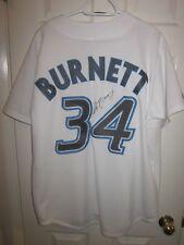 Majestic Toronto Blue Jays jersey autographed AJ Burnett Size adult large NEW