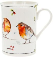 Winter Robins Christmas Fine China Mug - Gift Boxed