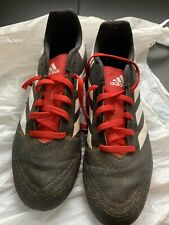 Adidas Unisex Soccer Cleats Size 6 Kids Red And Black Stripe