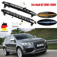 Paar für Audi Q7 07-09 Auto LED Tagfahrlicht Blinker Blinklicht Nebel Lampen DRL