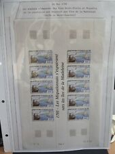 10 STAMP SHEET FRANCE STAMPS 1993 Saint Pierre