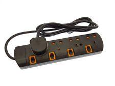 5 M Negro 4 modo conmutado de extensión de protección contra sobretensiones con indicador LED