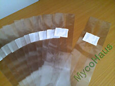 25 small spawn myco bags mushroom growing cultivation rye grain grow bag 4x3x18