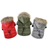 Warm Padded Dog Coat Jacket Chihuahua Winter Pet Clothing Cat Puppy Hoodie