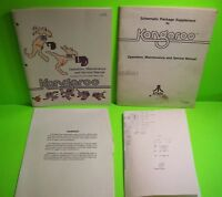 KANGAROO Video Arcade Game Service Manual + Schematic Book Original 1982 ATARI