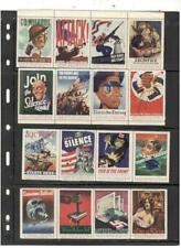 WWII PATRIOTIC POSTER STAMP COLLECTION