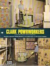 Fork Lift Truck Brochure - Clark - Powrworker  - c1973 - 10 items (LT125)