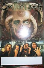 SIX FEET UNDER Bringer Of Blood, orig Metal Blade promo poster, 2003, 12x18, EX!