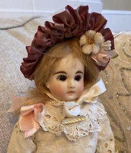 "Antique Belton Type Sonneberg French Market 14"" Bisque Head Doll Kid Body 181"