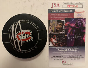 CAREY PRICE SIGNED MONTREAL CANADIENS OFFICIAL GAME PUCK AUTOGRAPH JSA