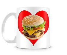 CHEESEBURGER LOVE - 11oz Ceramic Coffee Mug - Hamburger Heart Health McDonald's